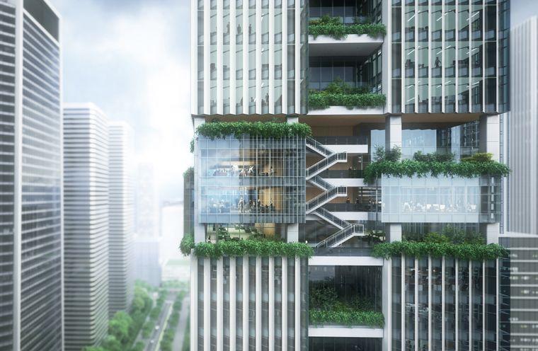 Erholung in der gemeinsamen Mittagspause in der Natur: der Shenzhen Transsion Tower macht es möglich.
