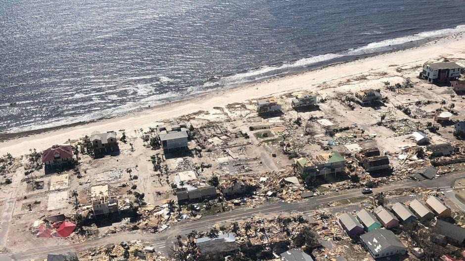 """Hurrikan """"Michael"""" hat in Florida große Zerstörung angerichtet."""