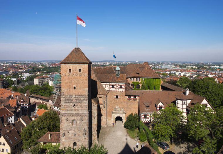 Die Kaiserburg Nürnberg gilt als Wahrzeichen der Stadt.