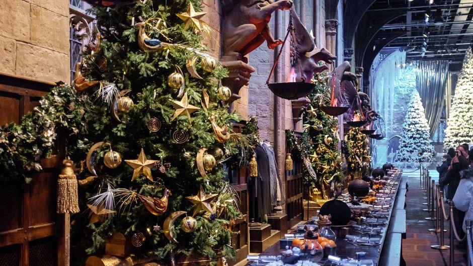 """Die """"Große Halle"""" in den Harry-Potter-Studios in England."""