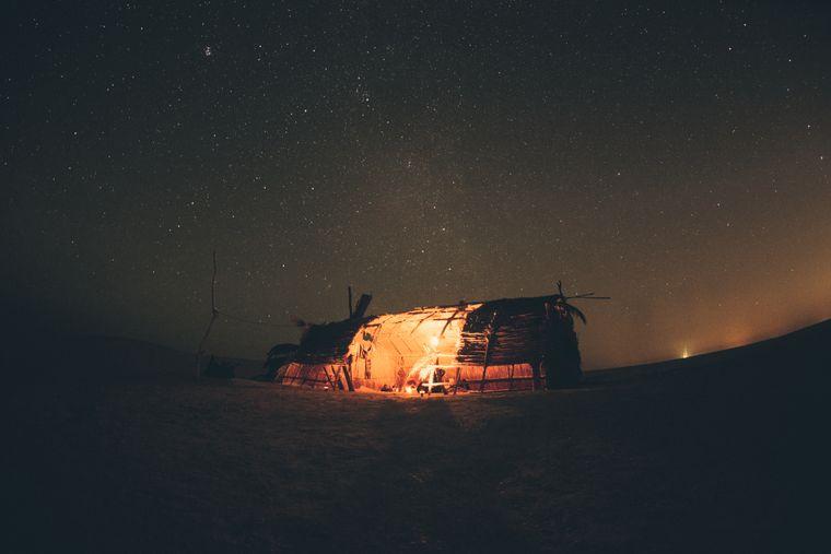 Selbstgebautes Zelt