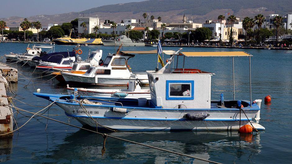 Der Hafen von Kos-Stadt ist ein beliebter Treffpunkt.