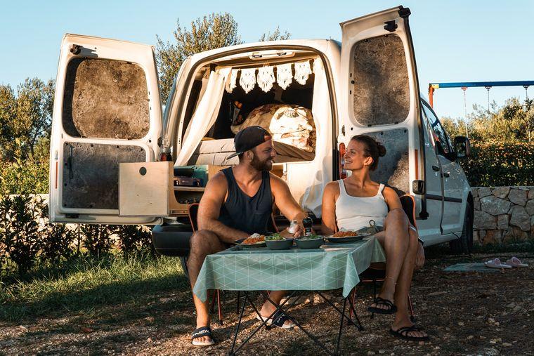 Nicole und Tim sind auf eine Weltreise gestartet, trotz Corona. In Europa reisten sie mit dem Camper.