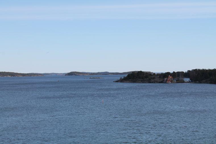 Die Schären vor Nynäshamn südlich von Stockholm. Durch sie fährt die Fähre nach Gotland.