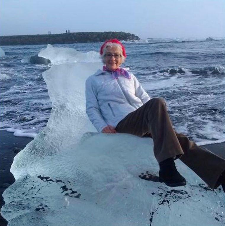 Oma Judith war sich der Gefahr nicht bewusst, als sie auf die Eisscholle kletterte.