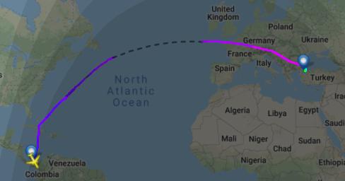 Der Airbus von Turkish Airlines flog über Grönland, statt den Weg im Süden zu nehmen.
