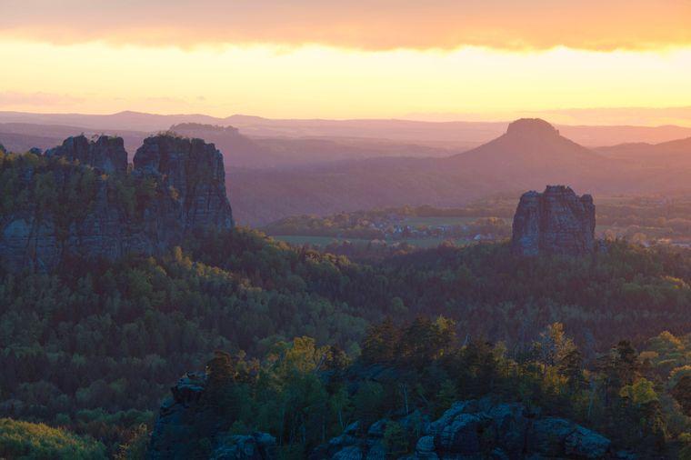 Die Sächsische Schweiz ist ein beliebtes Ausflugsziel in Deutschland.