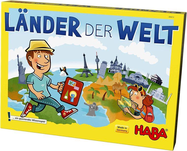 Geografiewissen garantiert! In diesem Spiel erfährt die ganze Familie Wissenswertes über verschiedene Länder.