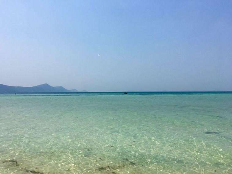 An keinem anderen Strand auf Phu Quoc ist das Wasser bei gutem Wetter so türkis wie am Star Fish Beach im Norden der Insel.