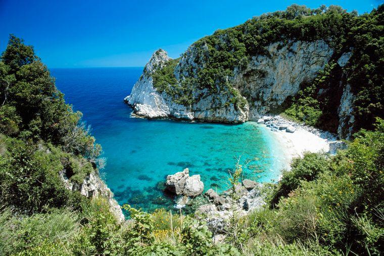 Einer von Griechenlands Top-Stränden am Festland: Fakistra Beach.