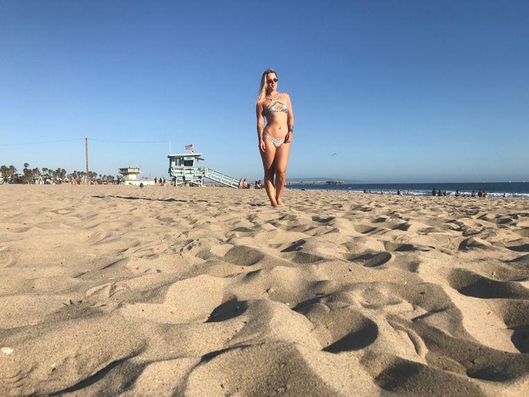 Leo Bartsch am Strand in Kalifornien.