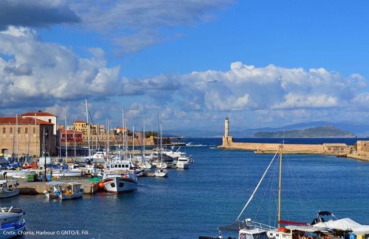 Der Hafen in Chania ist besonders schön.