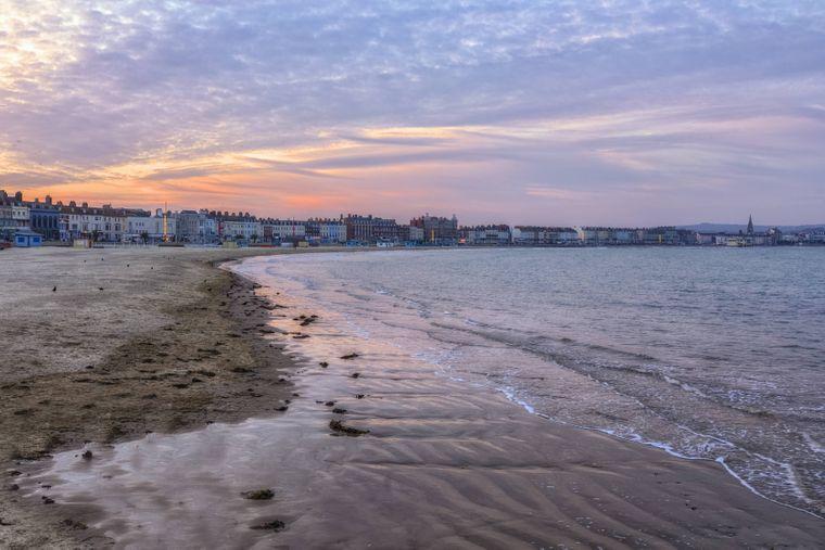 Weymouth Strand in England