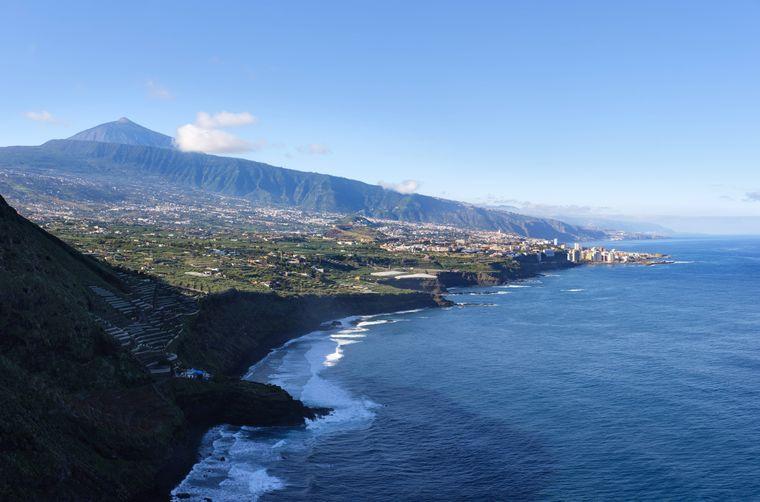Der wunderschöne Playa El Ancon auf Teneriffa.