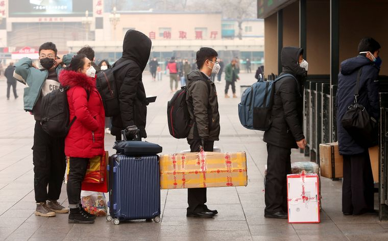 Busstation in China.