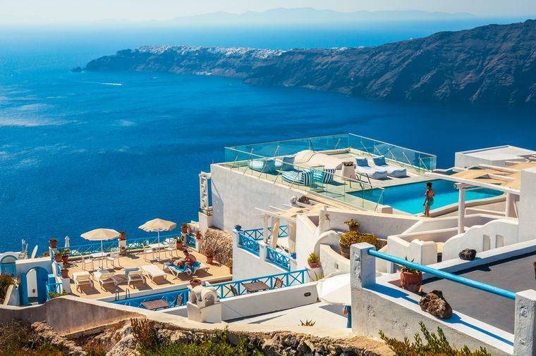 Bei der Wahl des Hotels auf Santorini ist so gut wie alles möglich.