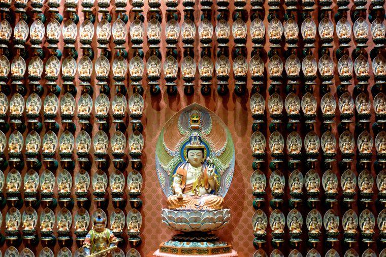 Buddha Tooth Relic Temple im Herzen von China Town.
