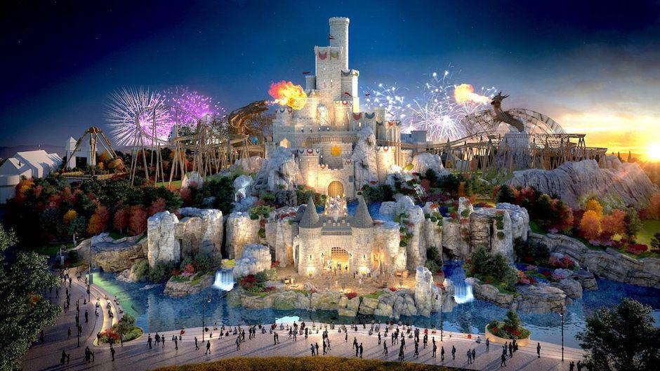 """Plan für """"The London Resort""""."""