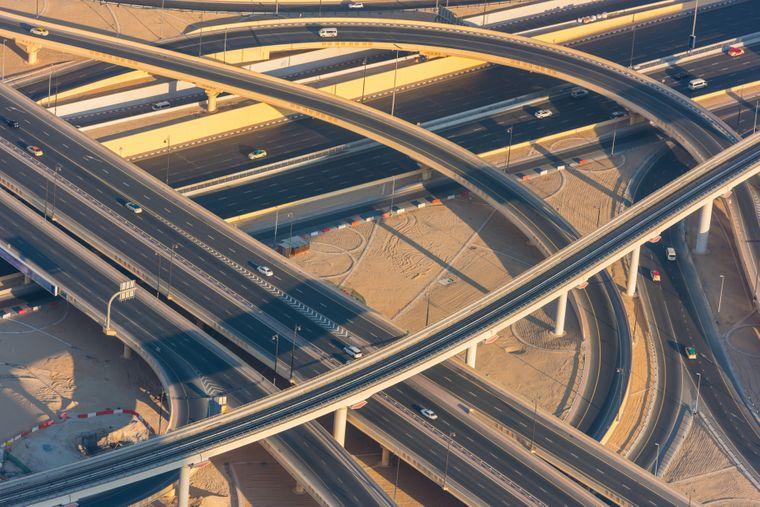 Ein Highway in Dubai.