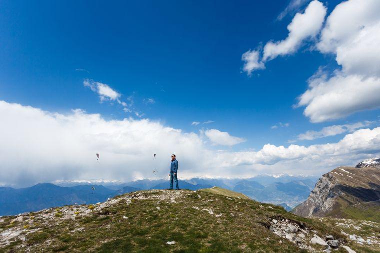 Der Monte Baldo ist der höchste Berg am Gardasee.