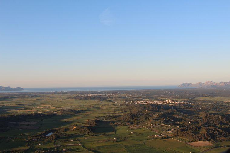 In der Abendsonne: Die Badia d'alcudia.