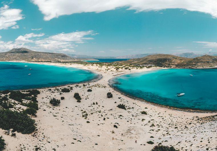 Der Strand Simos auf der Insel Elafonisos.