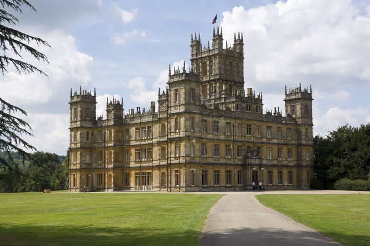 "Highclere Castle in Hampshire ist Kulisse für ""Downton Abbey""."