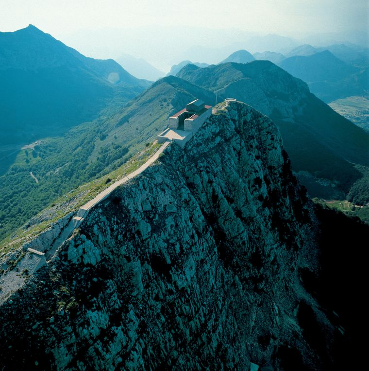 Der Mountain Lovcen in Montenegro.