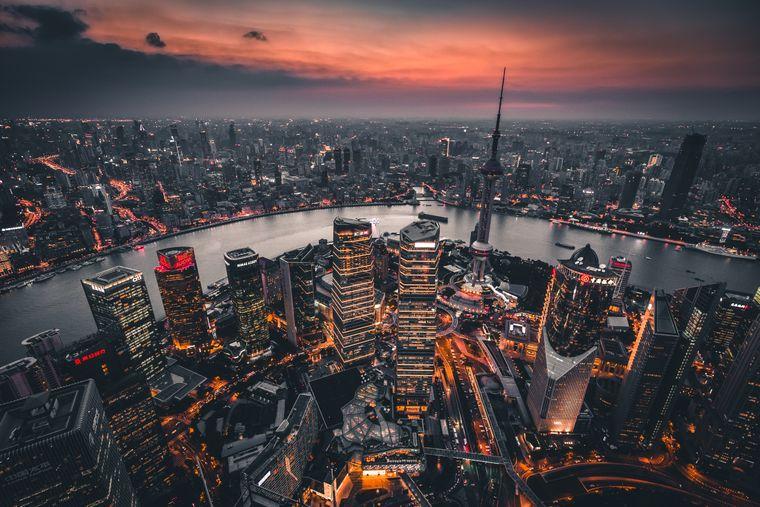 Der Blick auf die fulminante Skyline Shanghais.