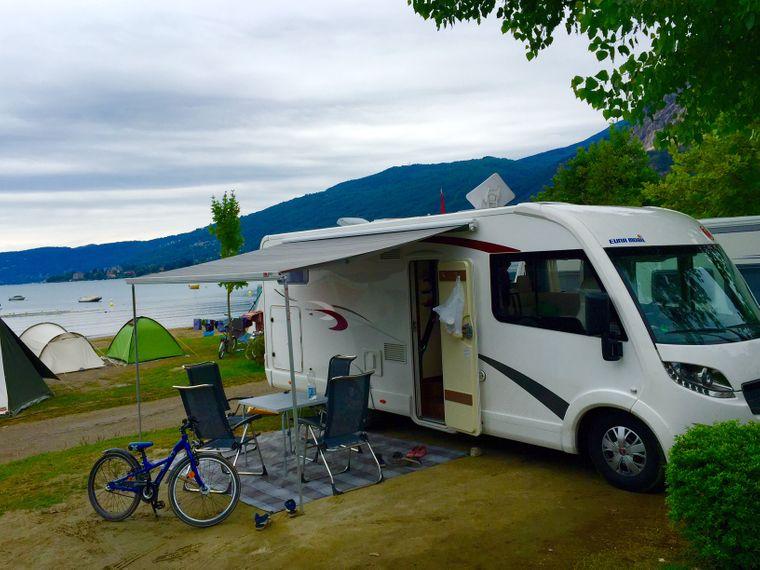 Wohnmobil am Lago Maggiore.
