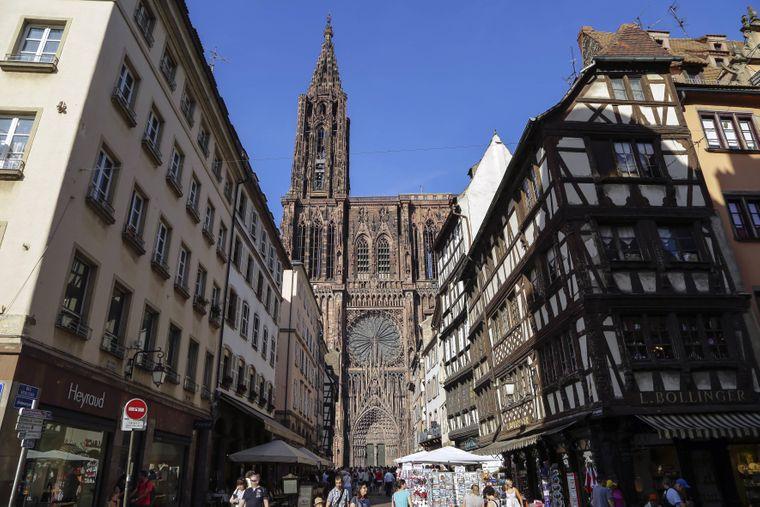Der Strassburger Muenster in der Altstadt