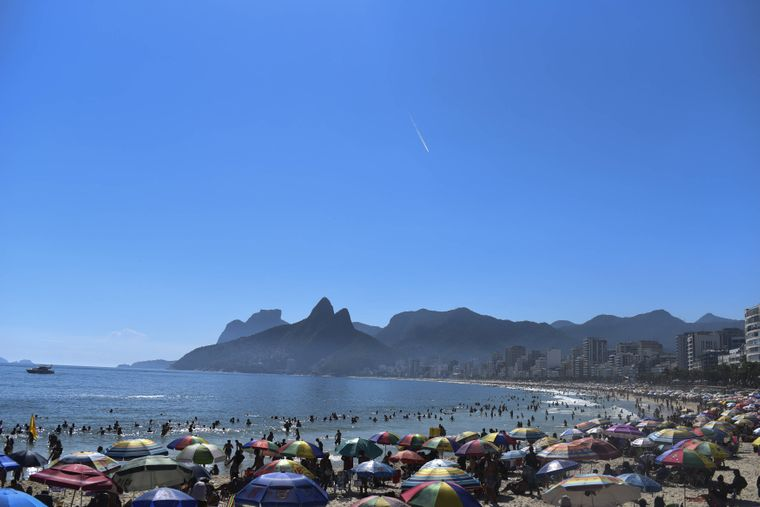 Ipanema Beach, Rio De Janeiro, Brasilien.