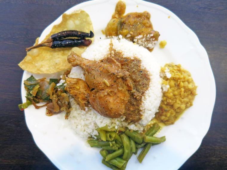 Ein Curry-Gericht auf Sri Lanka.