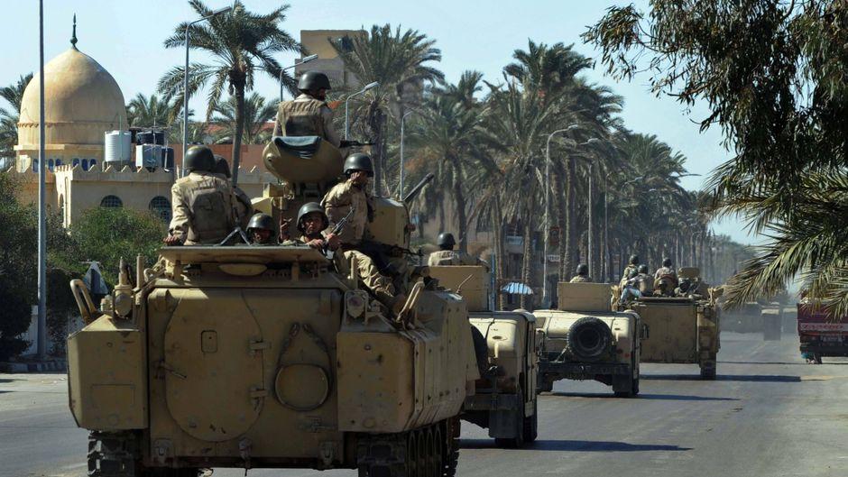 Ägyptisches Militär auf der Sinai-Halbinsel.
