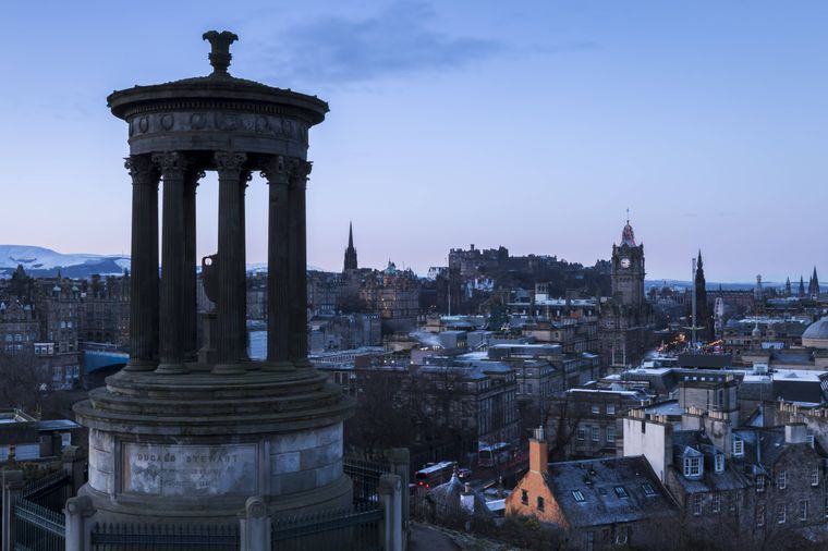 Aussicht vom Calton Hill in Edinburgh.