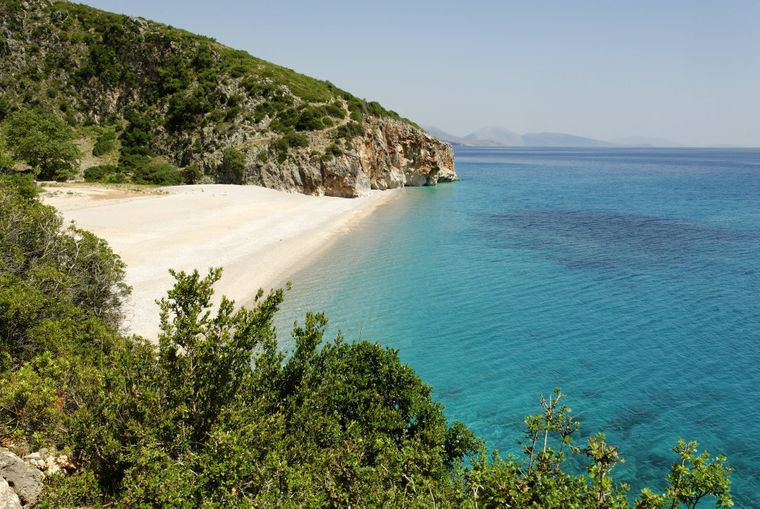 Strand bei Dhermi an der Albanischen Riviera.