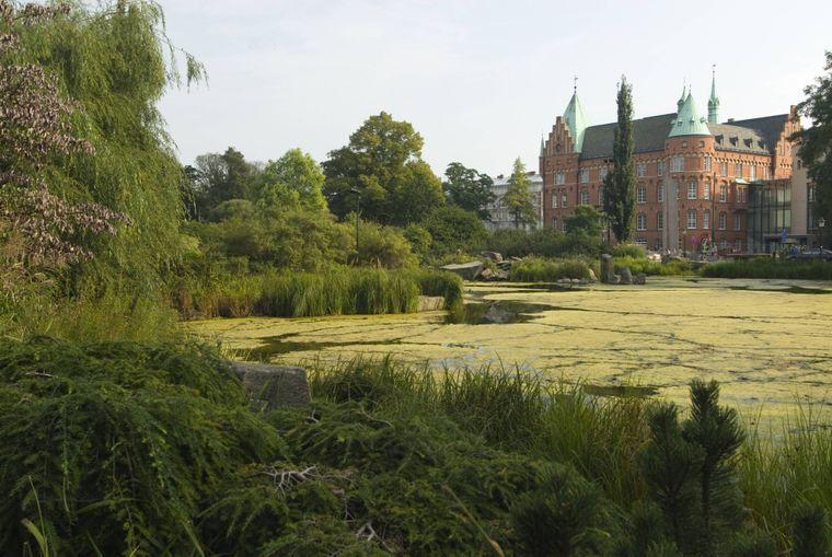 Blick auf das Schloss in Malmö, Schweden.