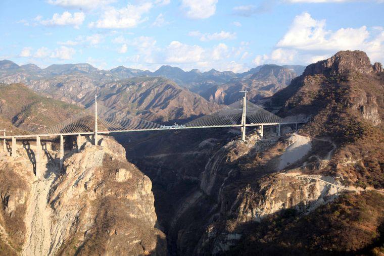 Die Baluarte-Brücke im Norden Mexikos