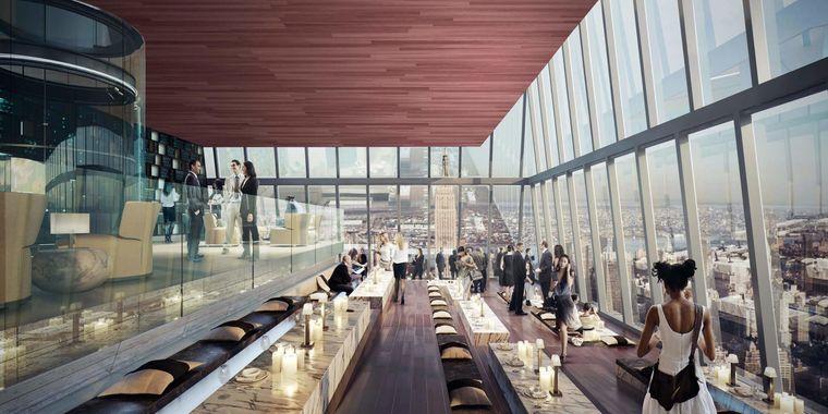 """Neben der Aussichtsplattform """"Edge"""" in New York entsteht eine elegante Panorama-Lounge."""