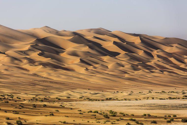Die Wüste Rub al-Chali in den Vereinigten Arabischen Emiraten diente als Kulisse für den Sandplaneten Jakku.