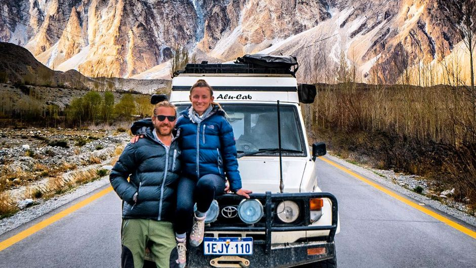 Blogger Jolie und Mark in Pakistan.