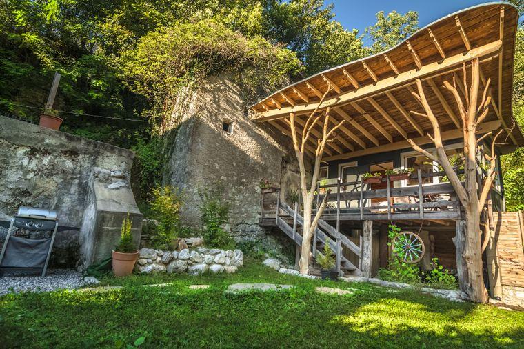 """Tiny House """"Secret Garden"""" in Slowenien."""