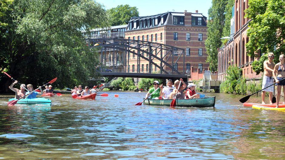 Paddeln auf Leipzigs Wasserwegen.