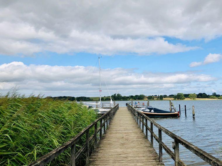 Lieblingsplatz an der Schlei: Der Bootssteg von Sieseby.