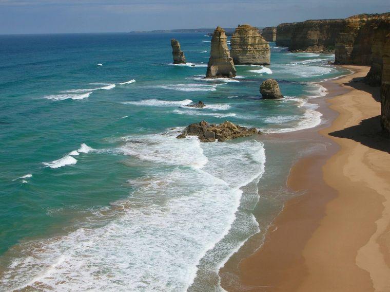 Die Great Ocean Road in Australien.