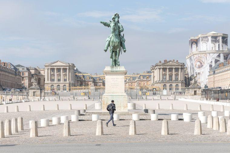 Schloss von Versailles, Paris, Frankreich geschlossen wegen der Ausgangssperre.