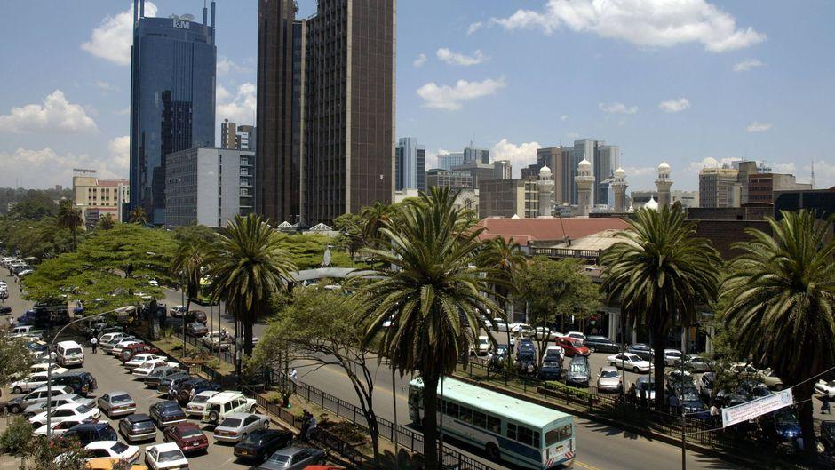 Der Urlauber bestellte sich ein Uber-Taxi in Nairobis Innenstadt.