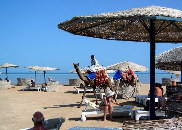 Ebenso günstig: Das Wasser am Strand des ägyptischen Urlaubsortes von El-Gouna: 23 Cent.
