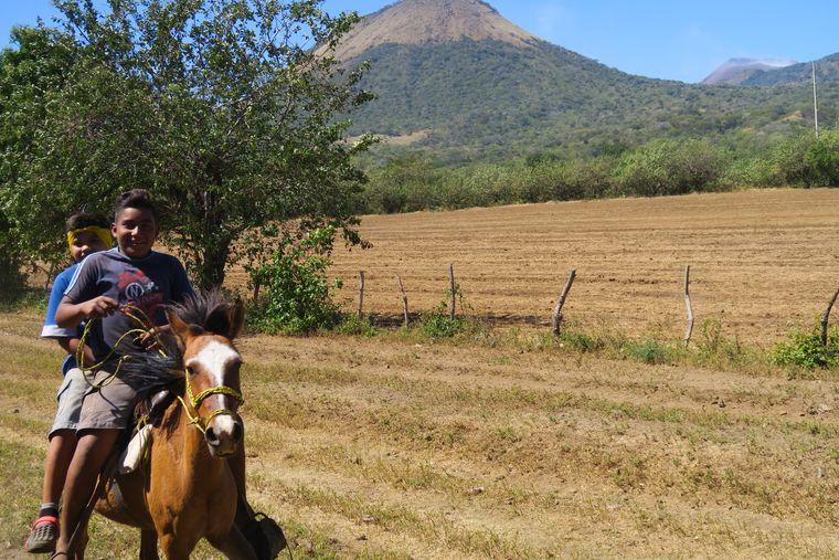 Ritt entlang Vulkanen in Nicaragua.