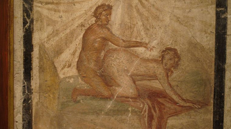 Erotische Kunst aus Pompeii und Herculaneum ist in Italien ausgestellt.